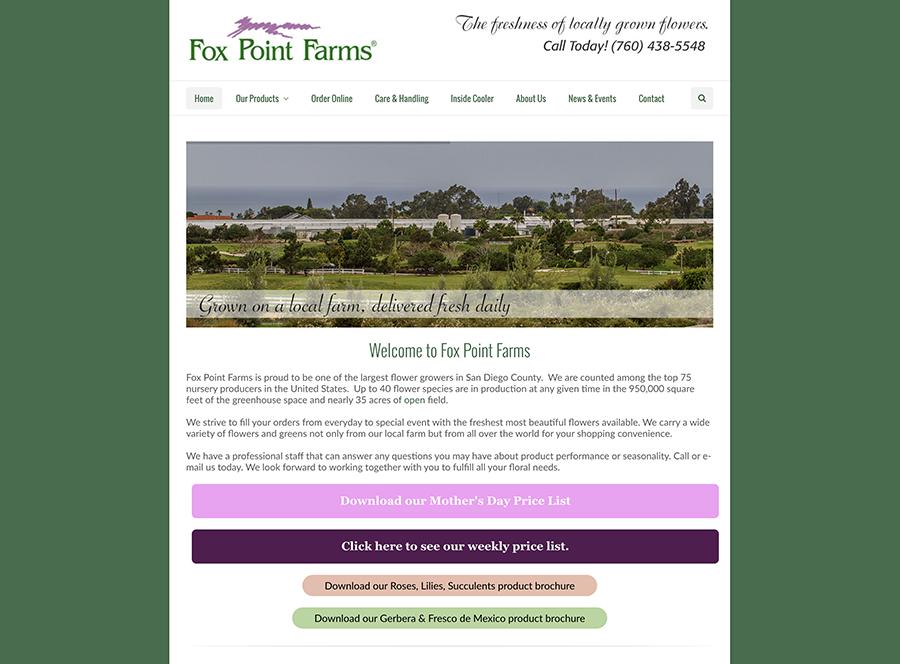 Fox Point Farms website