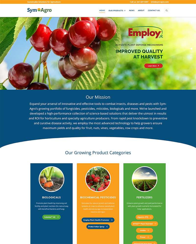 Sym-Agro website